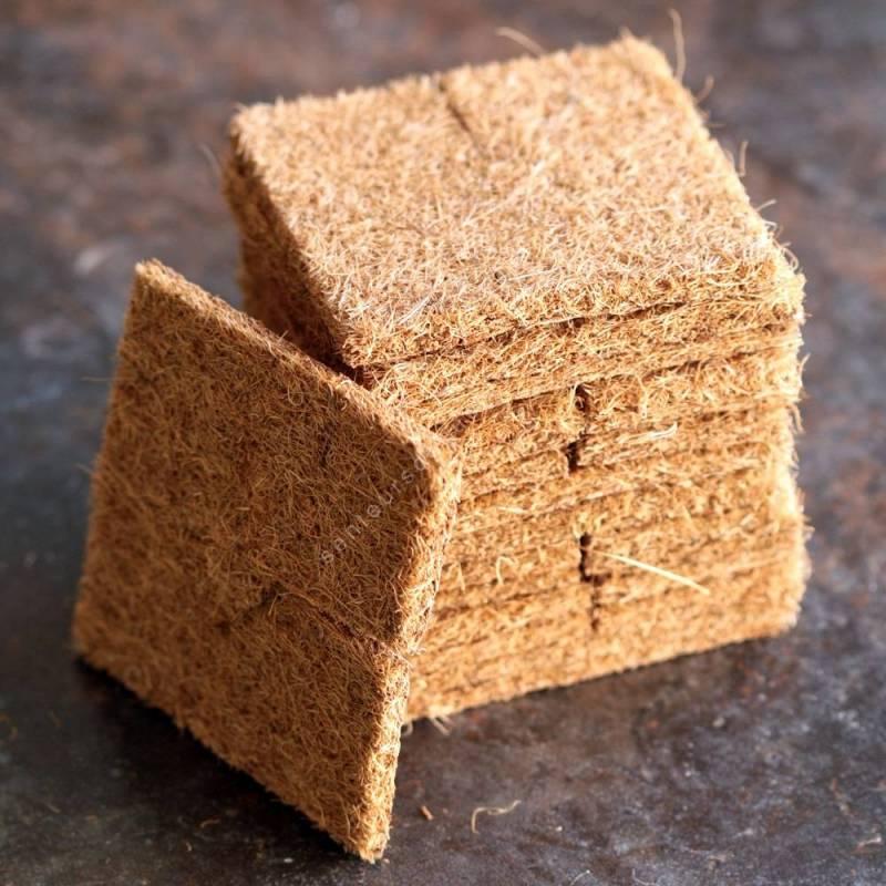 Lot de 15 paillages en fibre de coco